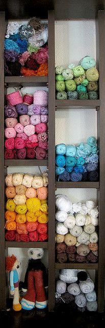 Yarn shelves