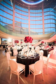 Modern Elegant Pink and Black Wedding