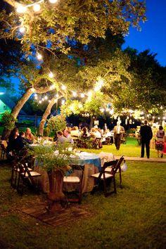 cinnamon cake, dream, wedding lighting, texas hill country weddings, hill countri, evenings, outdoor weddings, event lighting, backyards