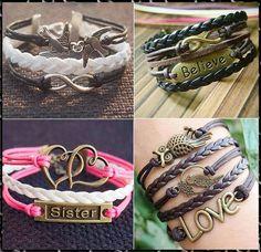 infinity braceletbird braceletheart braceletlove