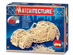This Matchitecture Antique Car kit is a matchstick model that marks a new development in the world of matchstick modelling.  This matchstick kit includes everything needed to make this matchstick model. Included are all the pre-cut card formers along with the glue, matchticks and full instructions.  Instead you have a set of paper plans which you place underneath the protective clear sheet on the building board and assemble micro beams.