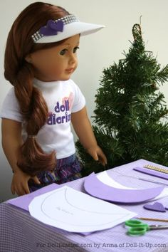 Camp Doll Diaries – Make and Decorate a Sun Visor, Pattern Included!
