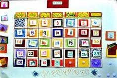 classroom calendar, kids help make