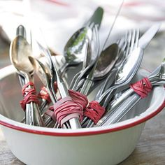 ideas for putting out silverware