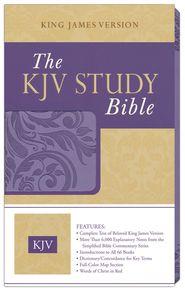 KJV Study Bible Imitation Leather, Purple  - $16.49