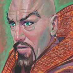Ming the Merciless from Flash Gordon Done on 6x6 inch Aquabord with Winsor & Newton Gouache Paints Because:                             ...