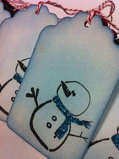 snowmen tags...