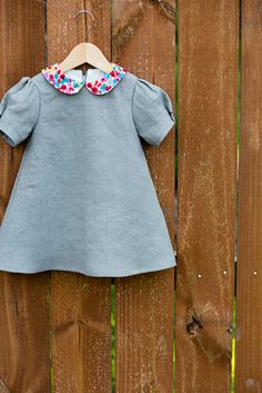 modified puppet show dress with pop of color collar // stitched together