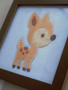 Mr Lucky Deer12 x 12 Framed Handmade
