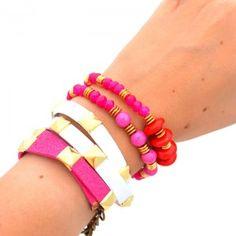 Pulsera Doble Taches   www.dulceencanto.com #accesorios #accessories #aretes #earrings #collares #necklaces #pulseras #bracelets #bolsos #bags #bisuteria #jewelry #medellin #colombia #moda #fashion