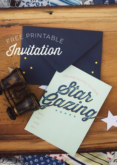 Star Gazing Party : Decorations & Free Invitation printable