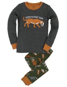 "Pyjama (appl.) - Animaux préhistoriques ""Sleepy-Toothed Tiger"" - Pyjamas - Vêtements de nuit - Garçons   Hatley Canada 35$"