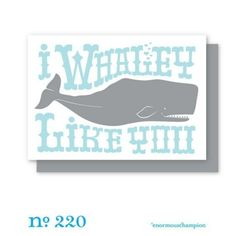 Another whale card.  $5