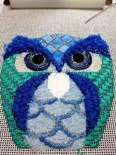 Raymond Crawford owl - stitched by Faith of a Spider blogger