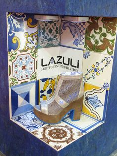 Portuguese shoes brand inspired in typical Portuguese tiles   https://www.facebook.com/Lazuli.pt