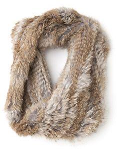 mini infinity fur scarf