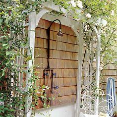 outdoor baths, outside showers, arbors, pool, beach houses, outdoor showers, coastal living, garden shower, trelli