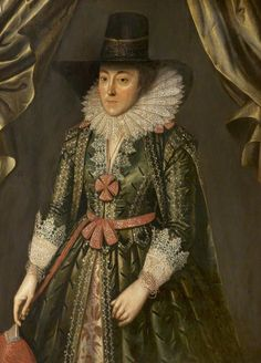 """Dorothy, Lady Done, née Wilbraham"", circle of Marcus Gheeraerts the younger, ca. 1610; Grosvenor Museum 1998.40082"