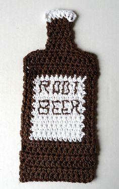 "Free pattern for ""Root Beer Dishcloth""!"