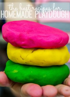 We pulled together a list of the very best homemade playdough recipes! They'll be a blast to make with your kids, and they will love being able to create their own colors, flavors, and scents!