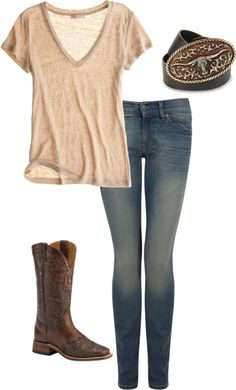 """""""Untitled #174"""" by smileitsmje on Polyvore Road Trip Outfit Summer, Boot, Country Summer Fashion, Casual Country Outfits, Summer Outfits, Fishing Outfit, Redneck, Comfy Road Trip Outfit, Country Casual Outfits"""