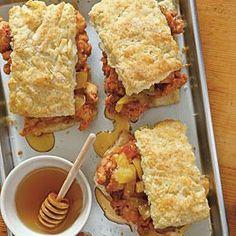 Fried Chicken Thighs & Biscuits | MyRecipes.com