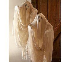 DIY Pottery Barn Hanging Ghost Tutorial