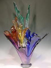 colorful blown glass glass art, blown art, art glass, color blown, rainbow colors, blown glass, artglass