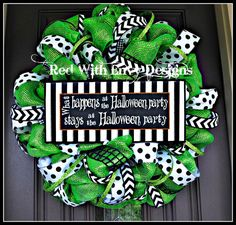 Hey, I found this really awesome Etsy listing at https://www.etsy.com/listing/157577736/halloween-wreath-deco-mesh-wreath-mesh