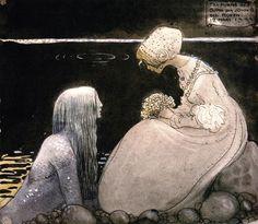 Agneta and the Sea-King by John Bauer.