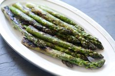 Nothing beats the flavor of asparagus, coated in olive oil, sprinkled with salt, and quickly grilled; also add a dash of balsamic vinegar. Yum!