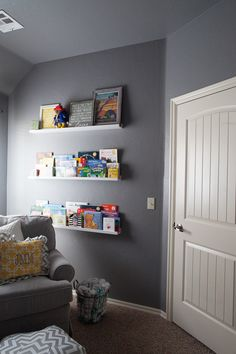 Tip: Use picture ledges from @IKEA USA for bookshelves in nursery!