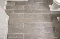 freckles chick: Plank bathroom floor tiles