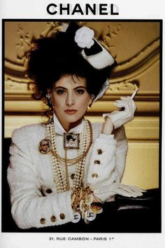 vintage fashion ads +chanel | JAZZ AGE | CHANEL | | Chanel 1980s Vintage Fashion Advertising - Ines de la Fressange