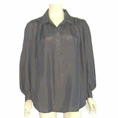 1980s Vintage Slouchy Pirate Dress Blouse David Benjamin NWT