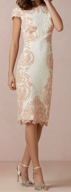 Lace pencil dress // BHLDN