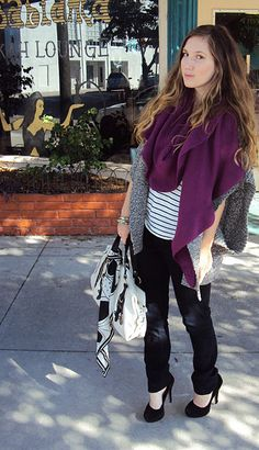 Striped TShirt, Scarf, Knit Cardigan http://thefrugalistadiaries.blogspot.com/2011/11/live-for-layers.html