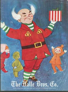 """Cover of Halle Brothers """"Wish Book"""" featuring Mr. Jingeling, 1965    (clevelandclassicmedia.blogspot.com)"""