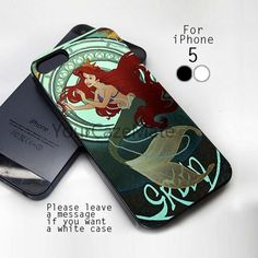 #Green #Ariel The #Little #Mermaid #Disney, #iPhone #5 Black #Case Cover