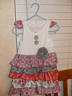 little dresses, little girls, summer dresses, dress tutorials, tshirt dress, ruffl dress, t shirts, ruffles, little girl dresses