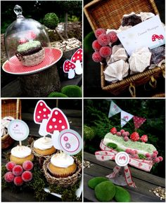 dessert tables, little red, red riding hood, birthday parties, bird party, woodland theme, party desserts, theme parties, woodland party