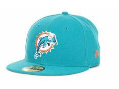 Miami Dolphins New Era NFL Sideline Cap Hats