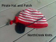 Pirate's Hat and Patch by NorthCreek Knits
