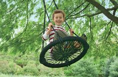 7 unique outdoor swings for kids. when we have a tree to hang this in, hank's gonna need one :)
