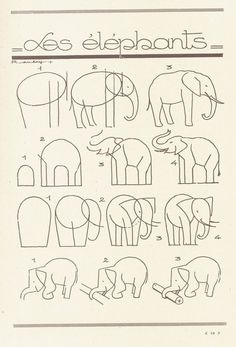 How to draw an elephant. elephants, craft, animals, drawings, art, les animaux, doodl, christmas trees, draw eleph