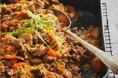 If you're looking for a way to spice up pork, try this delicious casserole from the Better Homes and Gardens Cookbook. With soy sauce, molasses, chili paste, and five-spice powder, this dish is loaded with flavor.