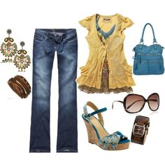 """""""bohemian sunny"""" by missredheadgirl on Polyvore"""