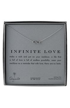'Infinite Love' Reminder Pendant Necklace