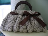 cute cable knit bag pattern