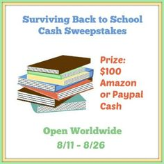 $100 Amazon GC Giveaway (or Paypal Cash!)-Giveaway-WW-ends 08/26 - The World of ContestPatti